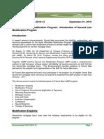 Announcement SVC-2010-14 September 21, 2010 (2nd LIEN MODIFICATION Program)