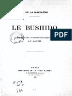 fr - 1905 - Le Bushido - société Franco-Japonaise - La Mazelière