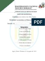 Informe Matematicas en las ciencias sociales