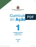 Currículo Em Ação EM 1ª Série Volume 1