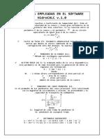 Formulas manual hidrocal