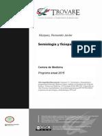 Programa de Semiologia y Fisiopatologia 2015
