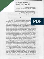 Arnaldo Vasconcelos - O que é uma T. Jur.-Cient.
