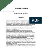 Oferendas e rituais na Quimbanda