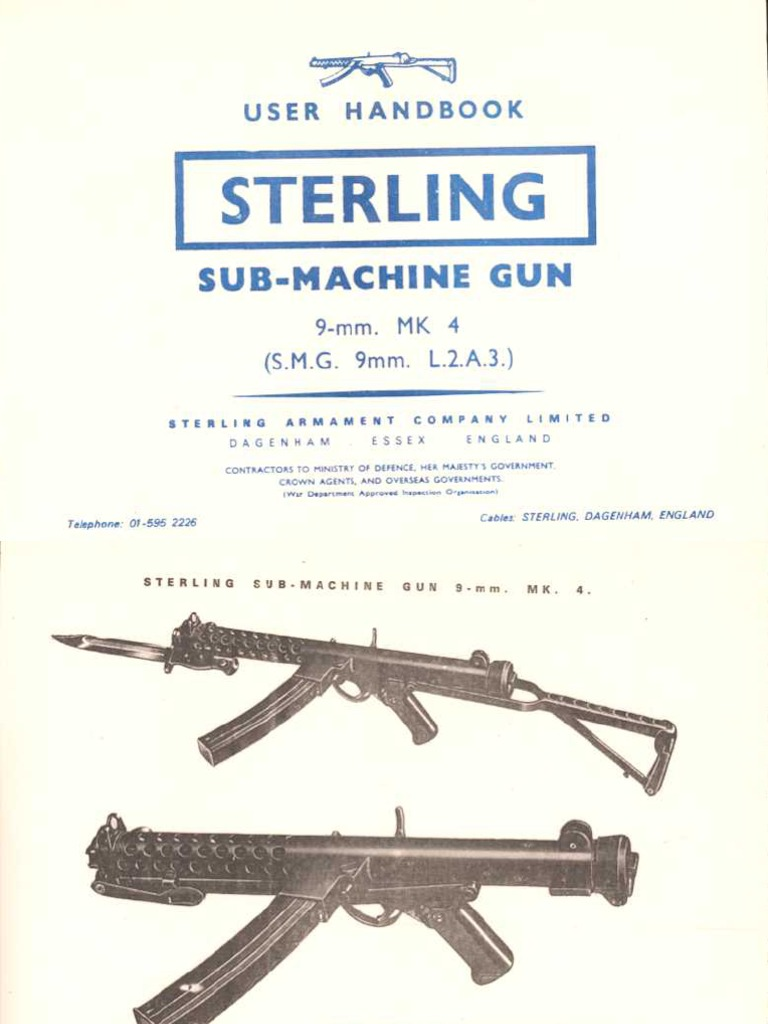 Sterling Mk4 SMG Manual