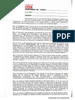 Resolucion Ministerial 196_21 Anti Acoso Ministerio de Trabajo