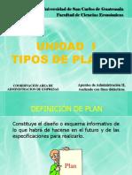 1.1 TIPOS DE PLANES