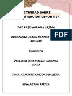 Actividad Sobre Administracion Deportiva