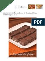 Más allá del gluten..._ Brownies sin Hornear con Crema de Chocolate (Receta GFCFSF, Vegana, RAW)