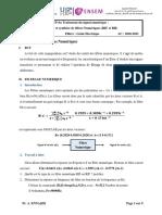TP N° 1- Analyse et synthèse de filtres Numériques (RIF et RII)