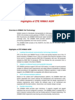 Highlights of ZTE WiMAX AGW