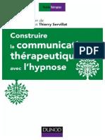 Construire la communication thérapeutique avec lhypnose