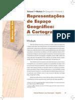 Representações do Espaço Geográfico - CARTOGRAFIA