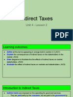 unit 4 - lesson 2 - indirect taxes