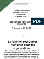 Séance 1 La Fonction Ressources Humaines (1ère Partie) - GoogleDocs