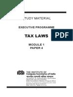 Tax Laws June2020 old Syllabus - CS Executive