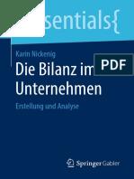 Die Bilanz Im Unternehmen Erstellung Und Analyse by Karin Nickenig