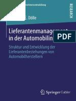 Lieferantenmanagement in Der Automobilindustrie Struktur Und Entwicklung Der Lieferantenbeziehungen Von Automobilherstellern by Johannes E. Dölle