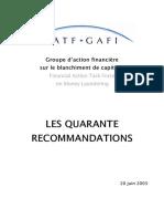 Quarante Recommandations Du Gafi