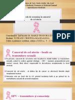 Toteanu Cristina. Metode de screening în cancerul  de col uterin