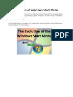 The Evolution of Windows Start Menu