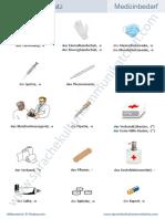 Wortschatz-Medizinbedarf