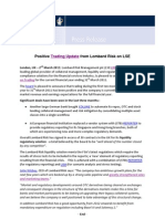 Positive Trading Update March 2011