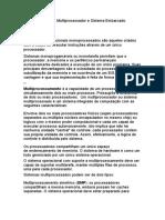 Monoprocessado, Multiprocessador e Processador Embarcado (1)