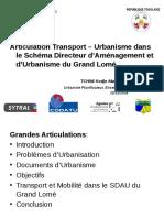 1612 TCHINI SDAU Présentation Articulation Transport Urbanisme
