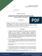 La denominación de los órganos de la Fiscalía General del Estado no determina la existencia de tipos penales