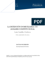 Detencion Domiciliaria Analisis Constitucional