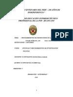 393587940 Monografia Procedimientos de Detenciones Capturas y Conduccion de Detenidos y Representacion de Roles Enriquez Quiape Jose Docx