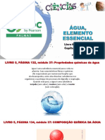 Aula 23 - Livro 5 -  Cap 12, Mod. 37 - propriedades químicas da água