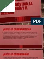 La Criminalistica y Criminologia