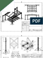 Conjunto plataforma columnas