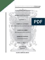 A7 - CARACTERÍSTICAS DE LAS ESTRUCTURAS LINEALES