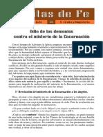 ODIO DE LOS DESMINIOS COMNTRA LA ENCARNACION