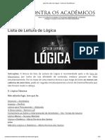 4 Lista de Leitura de Lógica