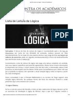 4 Lista de Leitura de Lógica 2.0