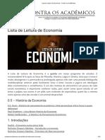 8 Lista de Leitura de Economia
