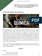 6 Lista de Leitura de Química