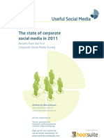 The state of corporate social media in 2011