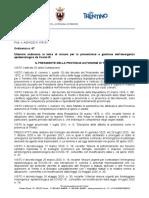 Ordinanza Presidente PAT n. 67 Di Data 13 Marzo 2021