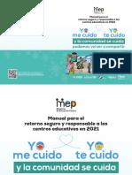 Manual Para El Retorno Seguro y Responsable a Los Centros Educativos en 2021
