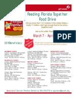 2011 Food Drive flyer