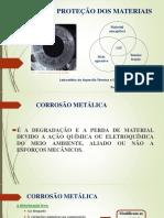 Corrosão e Proteção dos Materiais