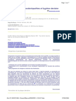 Prophylaxie Des Parodontopathies Et Hygiene Dentaire