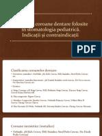 Coroane dentare in stomatologia pediatrica