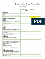 Lista de Verificación Diseño de Cursos Plus Landívar