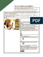 Imparare la scrittura geroglifica